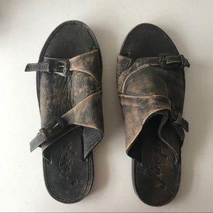 Free People Two Buckle Slide Sandals